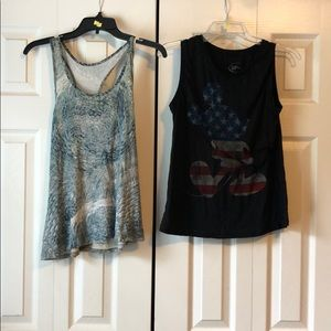 LOT OF 2 ATHLETIC TANK TOPS